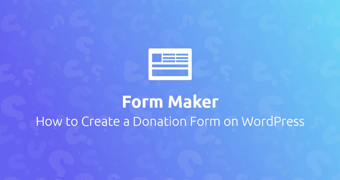 WP Form Maker