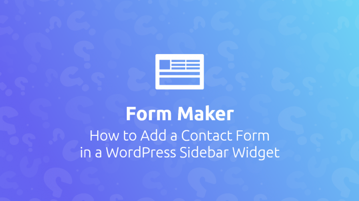 WP Form Maker banner