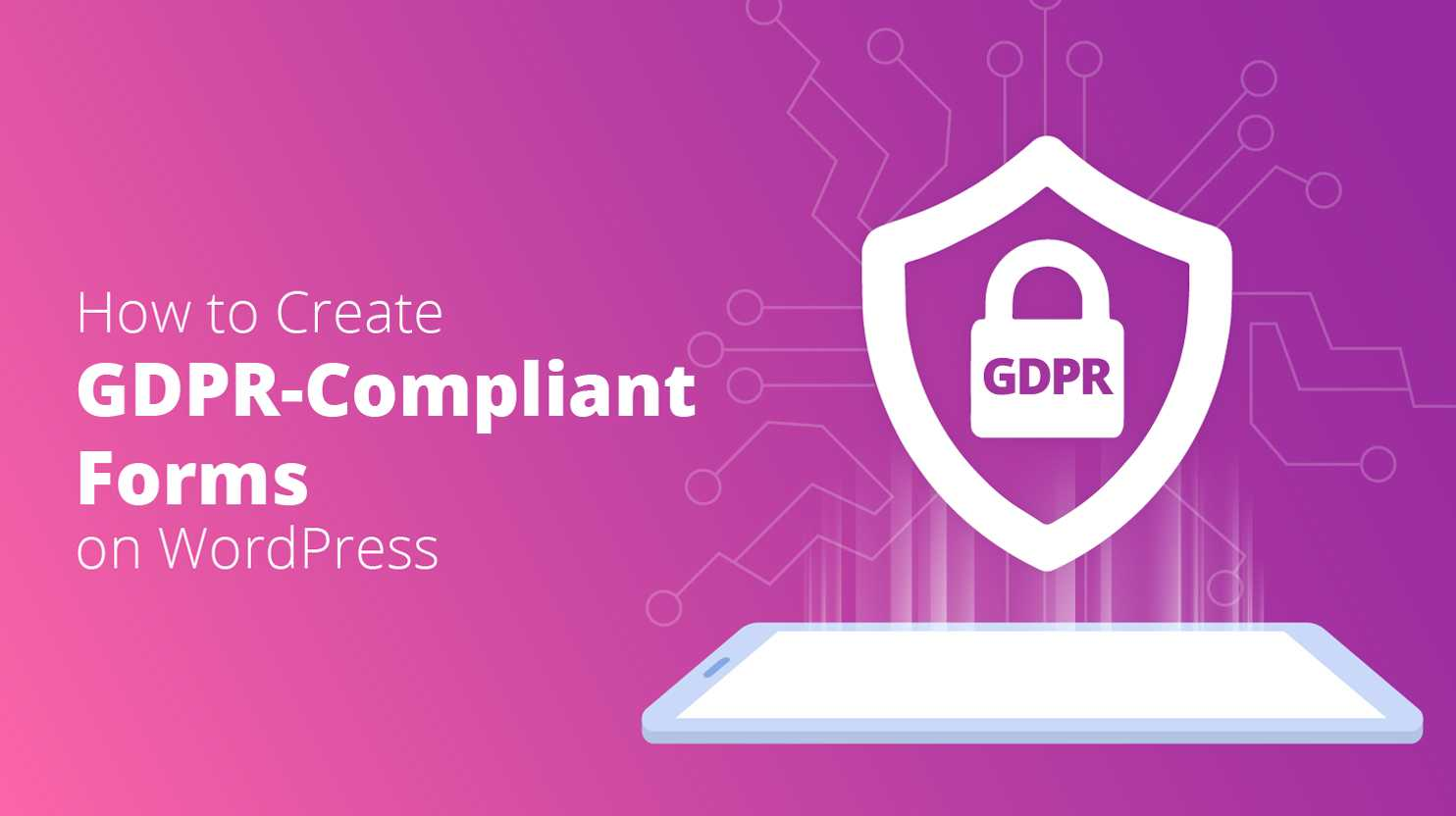 GDPR compliant forms