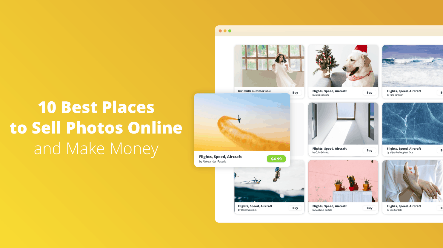 10 Best places to sell photos online