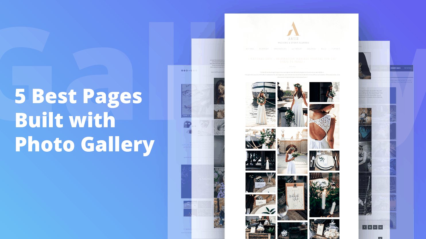 5 Best Pages Built with Photo Gallery
