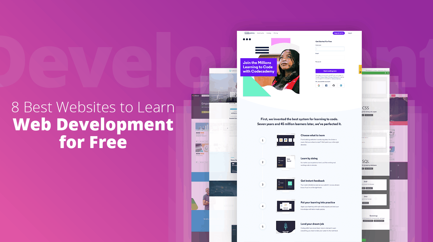 best free sites to learn web development