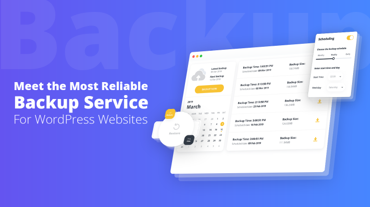 Most Reliable Backup Service For WordPress Websites