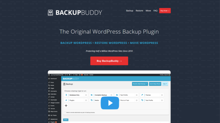 download page for backupbuddy