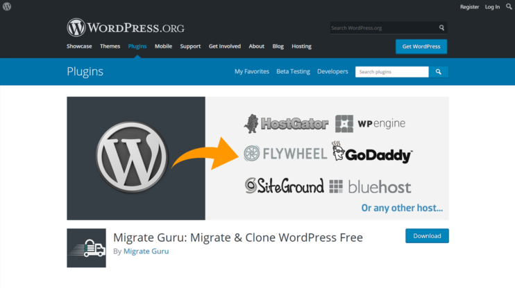 download page for migrate guru