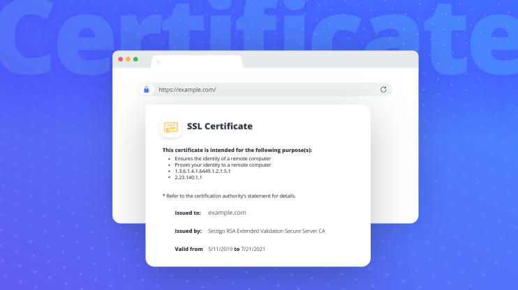 Browser with an SSL certificate