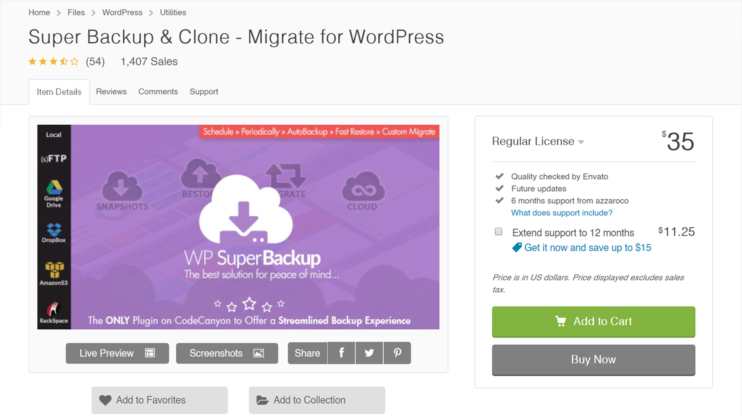 download page for super backup & clone