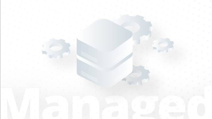 Icon of managed hosting on a white background