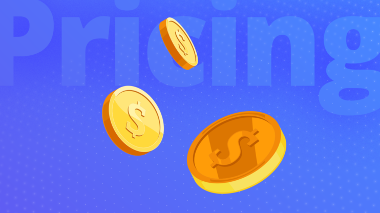 3 coins against a blue background