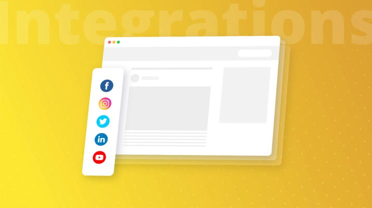 browser displaying social media buttons