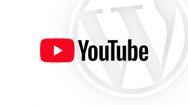 youtube logo, in the background the wordpress logo