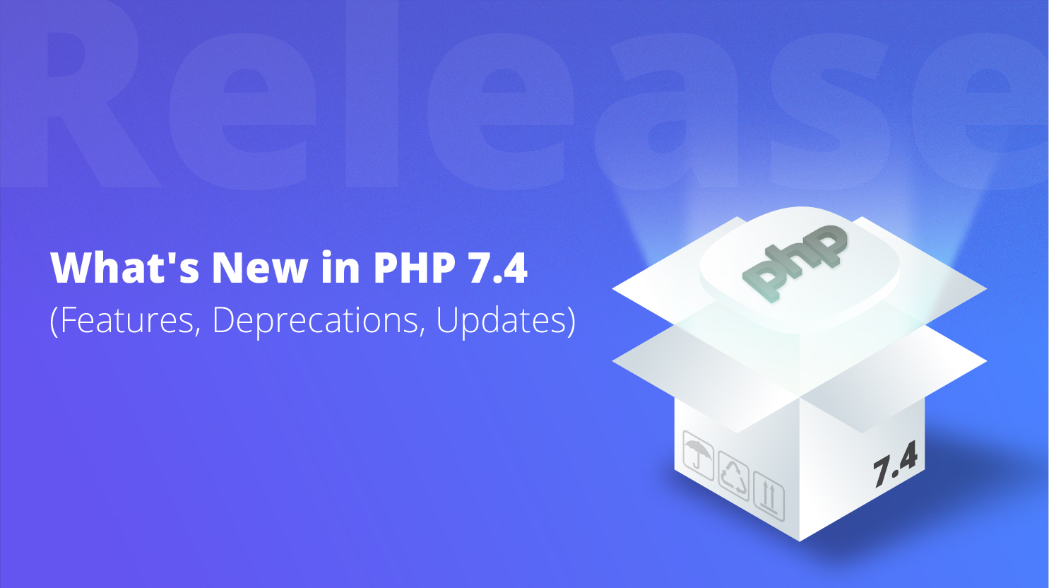 PHP sign coming out of the box