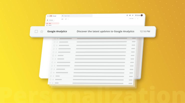 browser showing google analytics feature