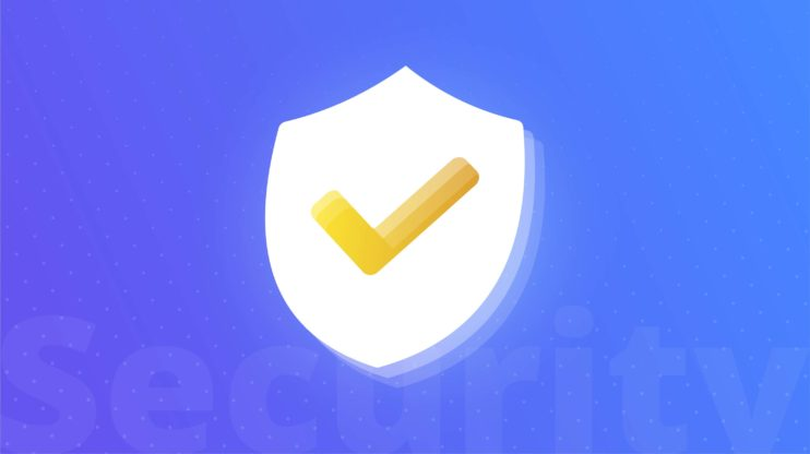 security symbol (shield with a check mark)