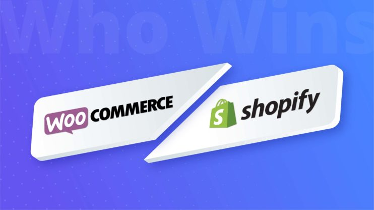 woocommerce and shopify logos