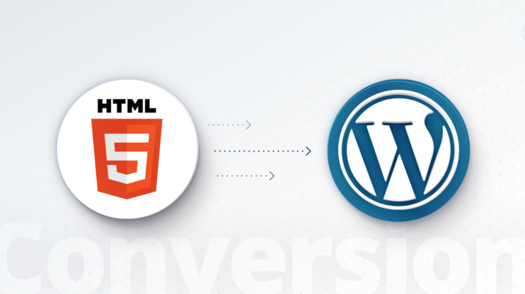 HTML logo and WordPress logo