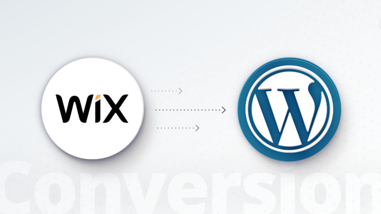 Wix and WordPress logos
