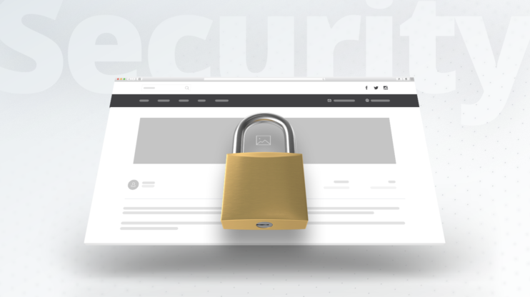 the lock sign on the website displayed on a white background