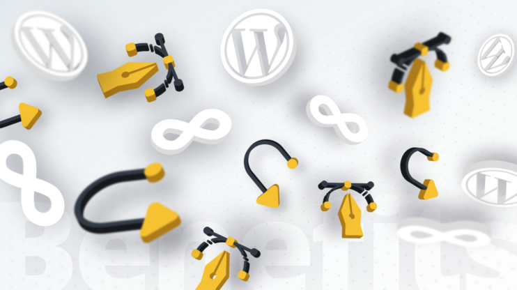 a mix of different logos such as WordPress and infinity sign