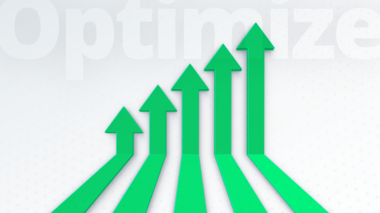 upwards-facing arrows that are exponentially growing