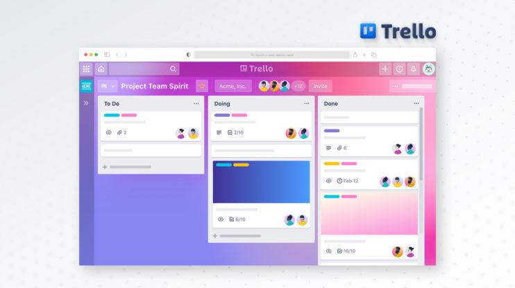 Trello's dashboard