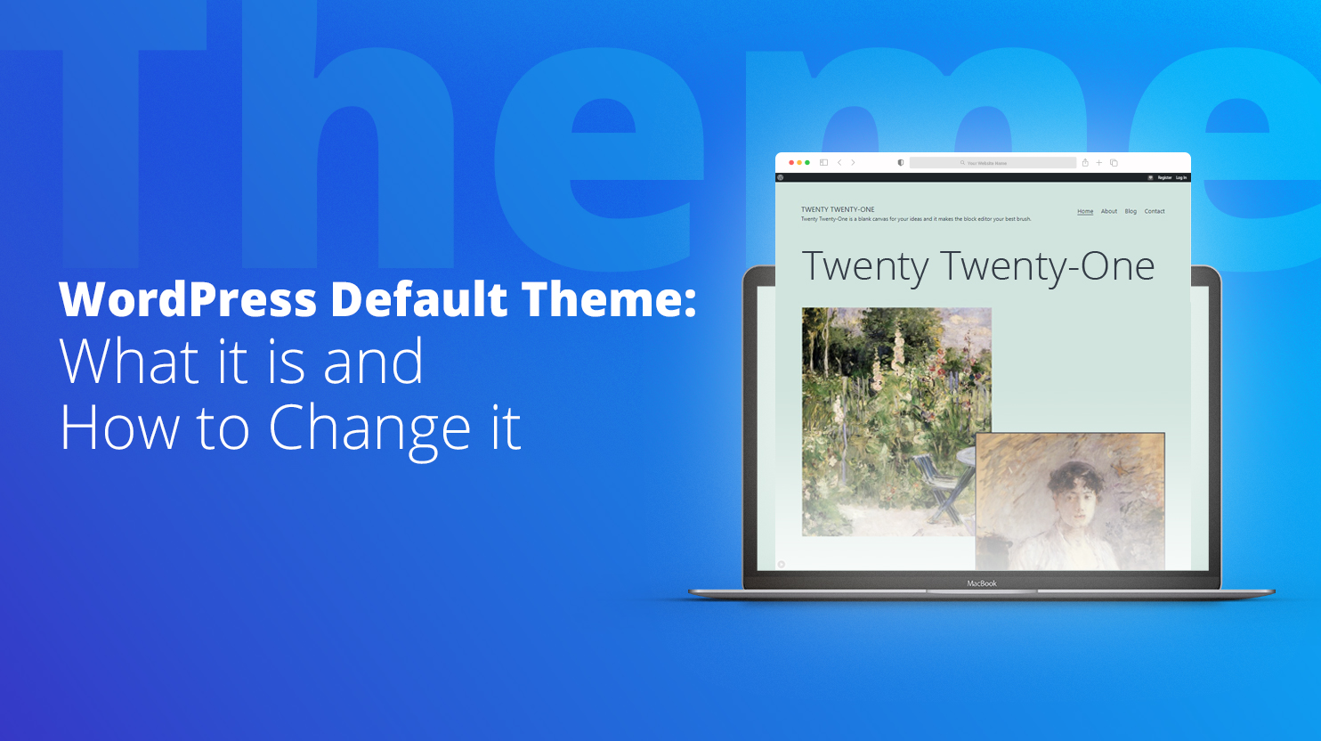 WordPress default theme how to change it 10Web AI builder