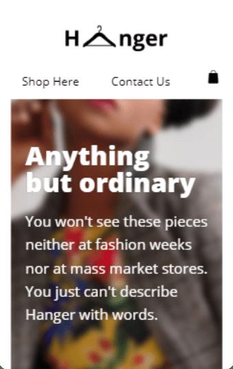 E-commerce: Clothing Store