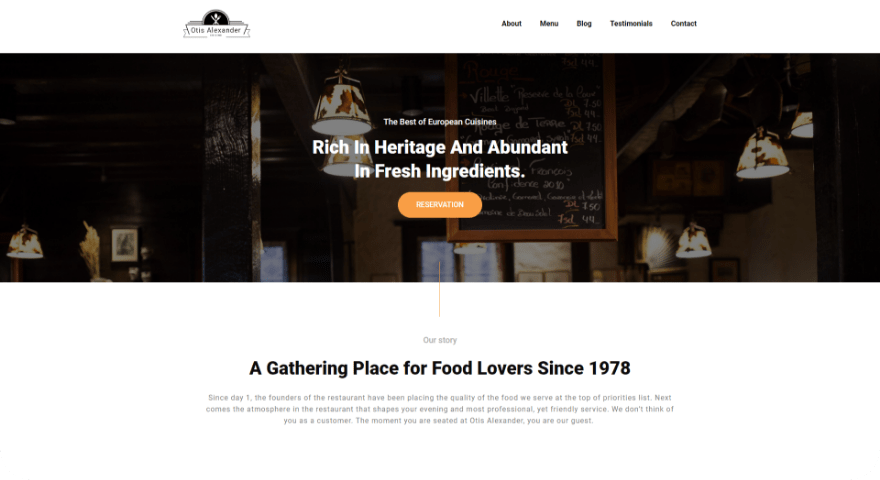 Otis Alexander Restaurant