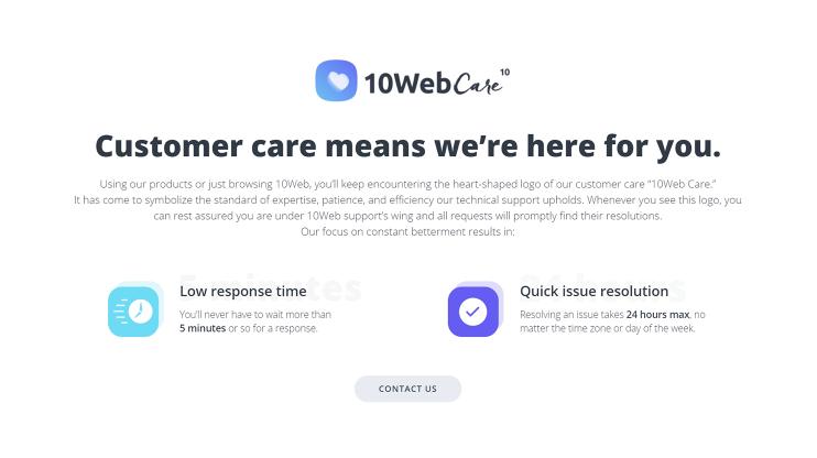 customer-care-10web-premium
